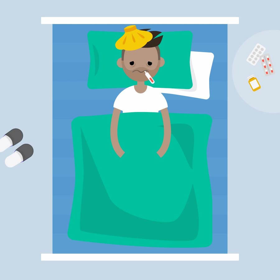 Sick-bearded-man-lying-under-the-blanket-with-an-ice-pack-on-his-head-and-thermometer-in-the-mouth--flat-editable-vector-illustration-841594992_4533x4533 [Converted]